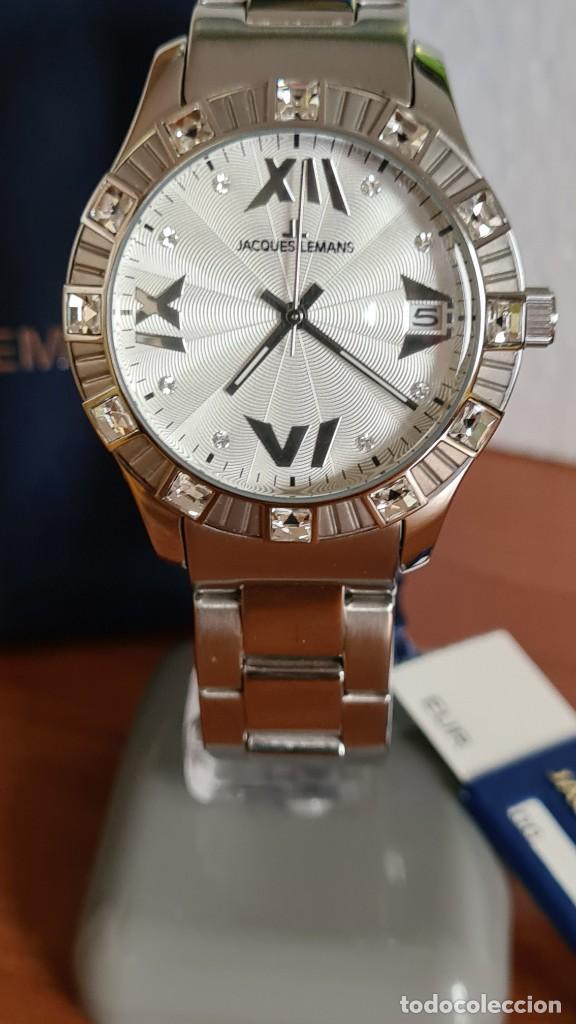 Relojes: Reloj unisex cuarzo JACQUES LEMANS. F1, caja acero con bisel piedras Swarovsky originales correa, - Foto 15 - 244721005