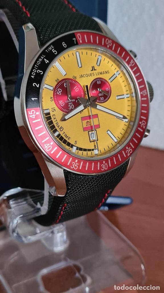 Relojes: Reloj caballero cuarzo JACQUES LEMANS. F1. Soccer 1-1358M, caja acero, esfera amarilla, mirar fotos. - Foto 7 - 244727510