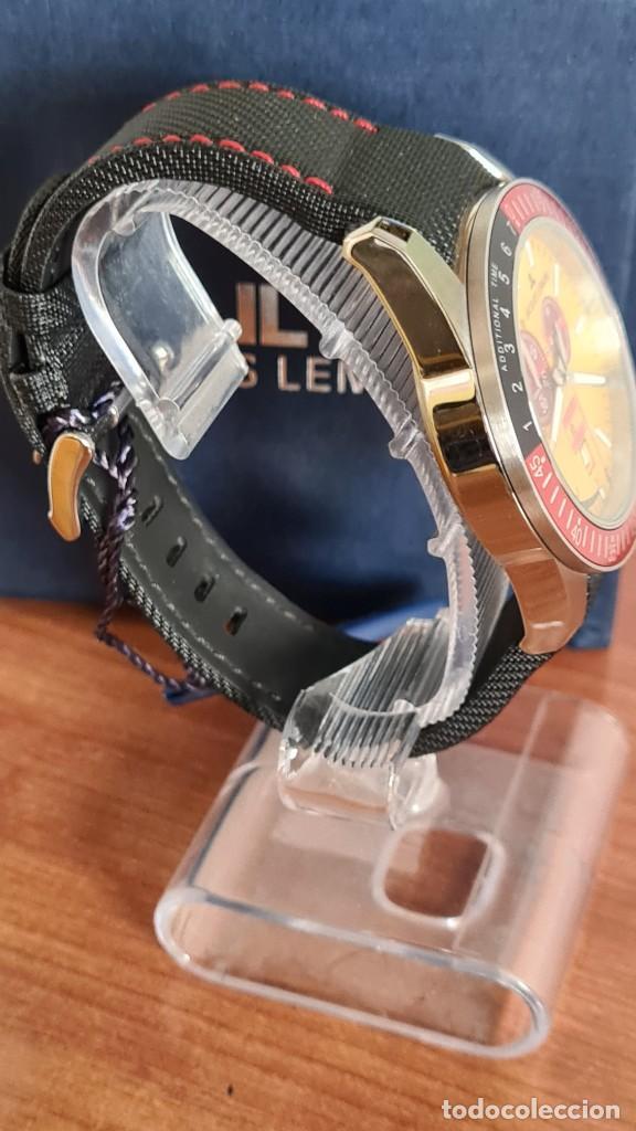 Relojes: Reloj caballero cuarzo JACQUES LEMANS. F1. Soccer 1-1358M, caja acero, esfera amarilla, mirar fotos. - Foto 11 - 244727510