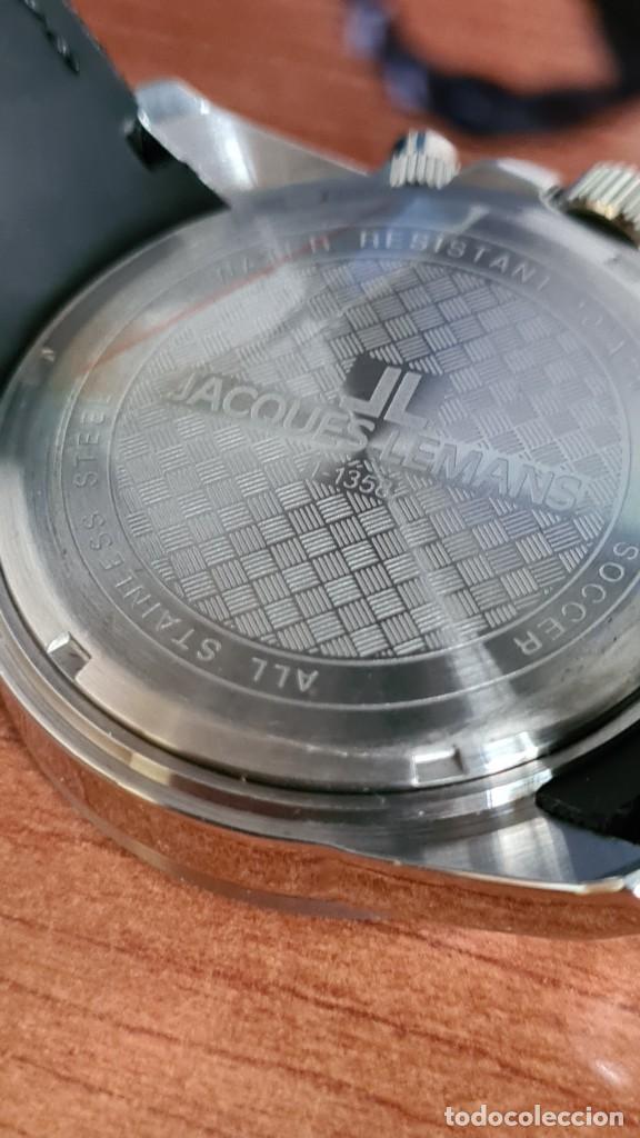 Relojes: Reloj caballero cuarzo JACQUES LEMANS. F1. Soccer 1-1358M, caja acero, esfera amarilla, mirar fotos. - Foto 13 - 244727510