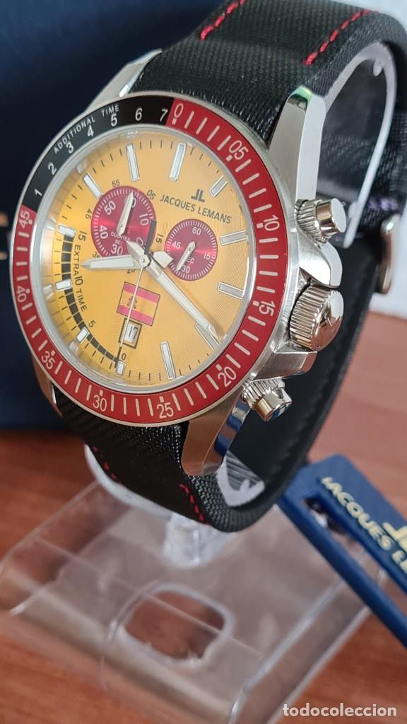 Relojes: Reloj caballero cuarzo JACQUES LEMANS. F1. Soccer 1-1358M, caja acero, esfera amarilla, mirar fotos. - Foto 14 - 244727510