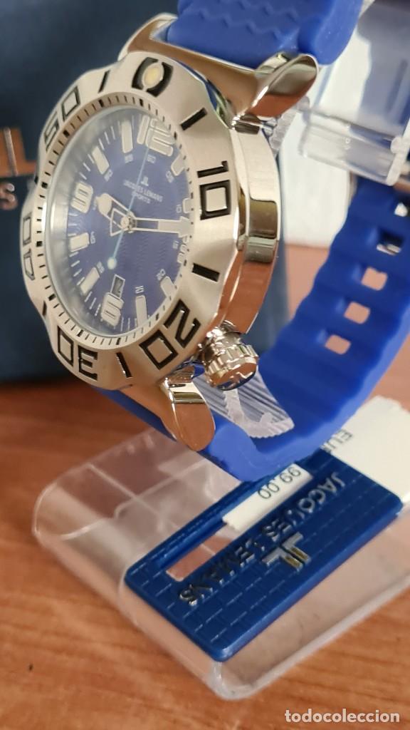 Relojes: Reloj Caballero cuarzo JACQUES LEMANS. F1, caja acero, bisel giratorio, esfera azul, correa silicona - Foto 3 - 244733085