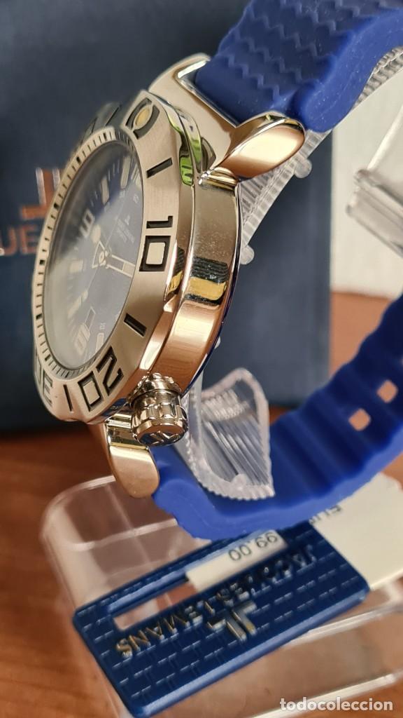 Relojes: Reloj Caballero cuarzo JACQUES LEMANS. F1, caja acero, bisel giratorio, esfera azul, correa silicona - Foto 5 - 244733085