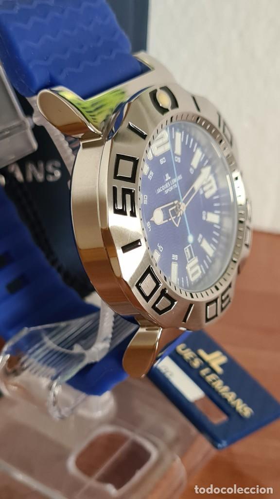 Relojes: Reloj Caballero cuarzo JACQUES LEMANS. F1, caja acero, bisel giratorio, esfera azul, correa silicona - Foto 7 - 244733085