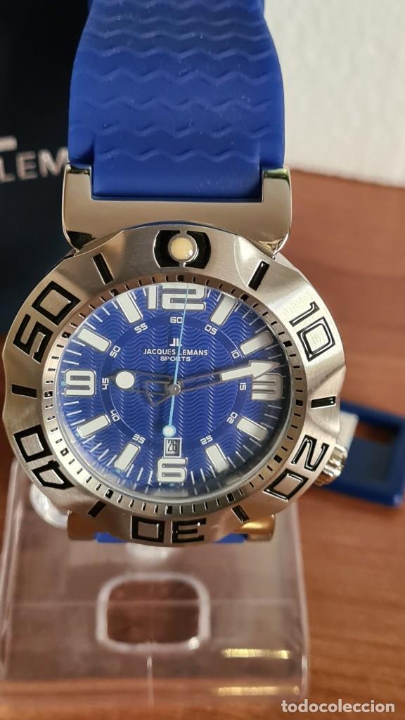 Relojes: Reloj Caballero cuarzo JACQUES LEMANS. F1, caja acero, bisel giratorio, esfera azul, correa silicona - Foto 8 - 244733085