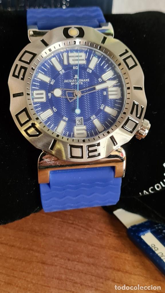 Relojes: Reloj Caballero cuarzo JACQUES LEMANS. F1, caja acero, bisel giratorio, esfera azul, correa silicona - Foto 10 - 244733085