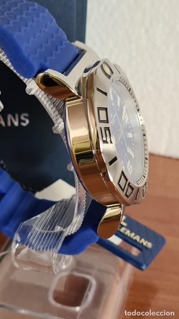Relojes: Reloj Caballero cuarzo JACQUES LEMANS. F1, caja acero, bisel giratorio, esfera azul, correa silicona - Foto 11 - 244733085