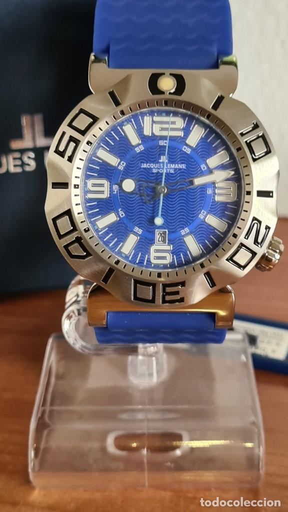 Relojes: Reloj Caballero cuarzo JACQUES LEMANS. F1, caja acero, bisel giratorio, esfera azul, correa silicona - Foto 12 - 244733085