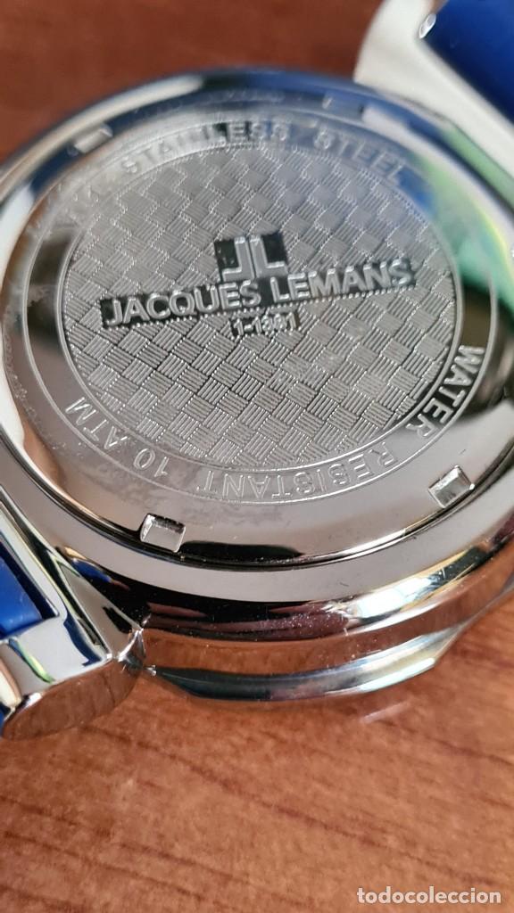 Relojes: Reloj Caballero cuarzo JACQUES LEMANS. F1, caja acero, bisel giratorio, esfera azul, correa silicona - Foto 14 - 244733085