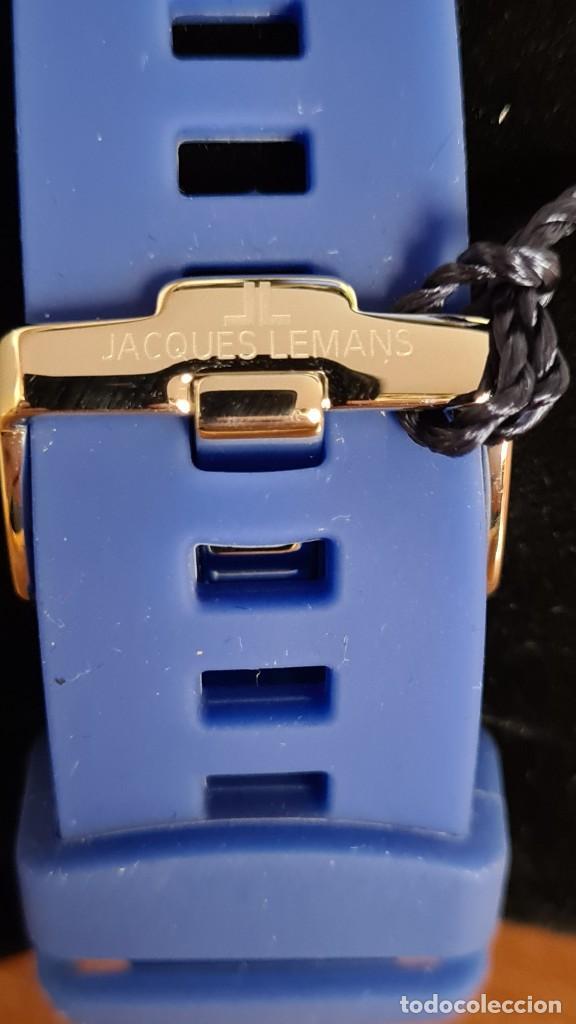 Relojes: Reloj Caballero cuarzo JACQUES LEMANS. F1, caja acero, bisel giratorio, esfera azul, correa silicona - Foto 16 - 244733085