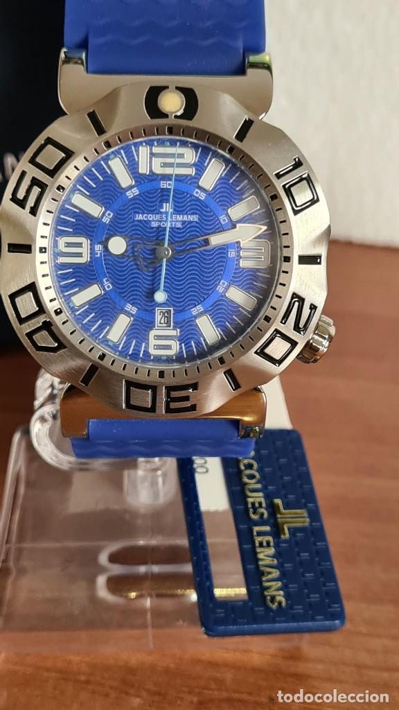 Relojes: Reloj Caballero cuarzo JACQUES LEMANS. F1, caja acero, bisel giratorio, esfera azul, correa silicona - Foto 18 - 244733085