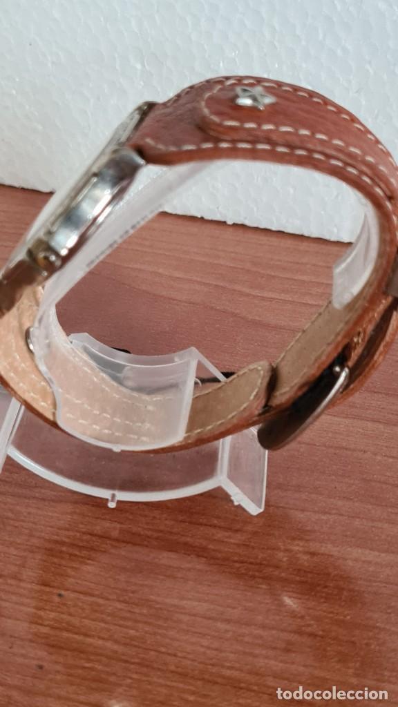 Relojes: Reloj unisex BASSEL de cuarzo acero, esfera una moneda color oro, agujas chapada negras,correa nueva - Foto 8 - 244743835
