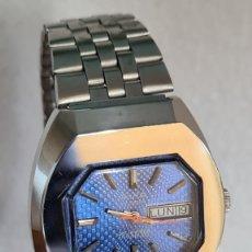 Relojes: RELOJ CABALLERO (VINTAGE) AVIA AUTOMÁTICO ACERO, ESFERA AZUL CON DOBLE CALENDARIO LAS TRES, CORREA.. Lote 244807075