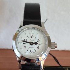 Relojes: RELOJ (VINTAGE) DE CUERDA BASSEL DE CUERDA PARA INVIDENTE, ACERO, ESFERA BLANCA EN BRAILLE, CORREA.. Lote 244812735