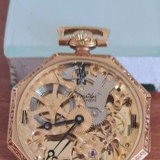 Relojes: RELOJ BOLSILLO THERMIDOR CUERDA MANUAL SUIZO MÁQUINA VISTA CHAPADO DE ORO 20 MICRAS, 17 RUBIS INCA.. Lote 244825825