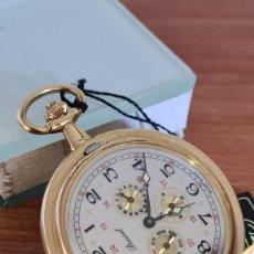 Relojes: RELOJ BOLSILLO BASSEL CUARZO, ESFERA BLANCA CON TRES SUBESFERAS TRES DÍAS, SEIS SEGUNDERO,NUEVE SEMA. Lote 244836080