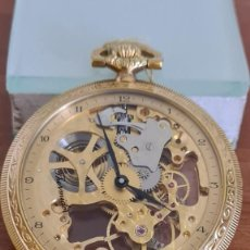 Relojes: RELOJ BOLSILLO THERMIDOR CUERDA MANUAL SUIZO MÁQUINA VISTA CHAPADO DE ORO 20 MICRAS, 17 RUBIS INCA.. Lote 244841850