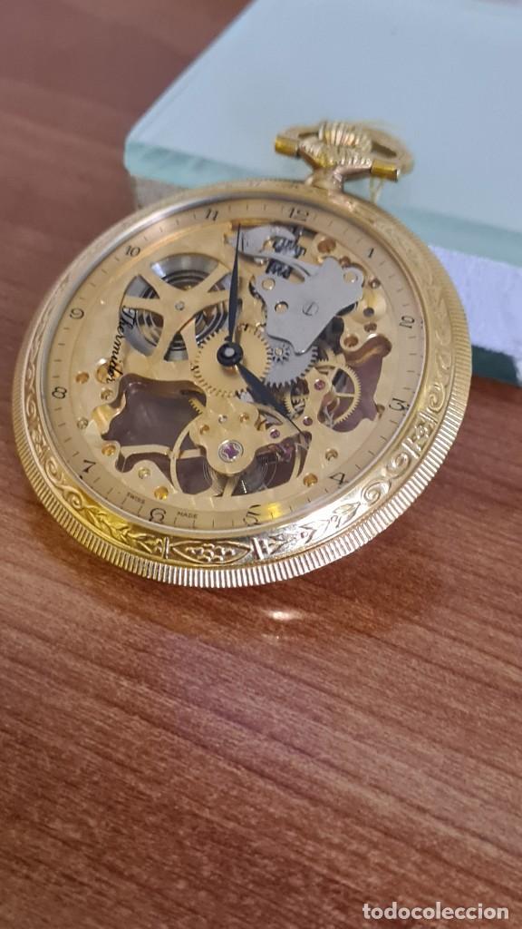 Relojes: Reloj bolsillo THERMIDOR cuerda manual Suizo máquina vista chapado de oro 20 micras, 17 rubis inca. - Foto 2 - 244841850