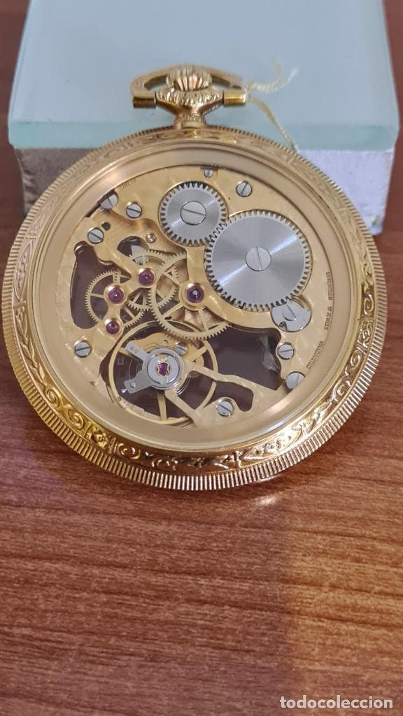 Relojes: Reloj bolsillo THERMIDOR cuerda manual Suizo máquina vista chapado de oro 20 micras, 17 rubis inca. - Foto 3 - 244841850