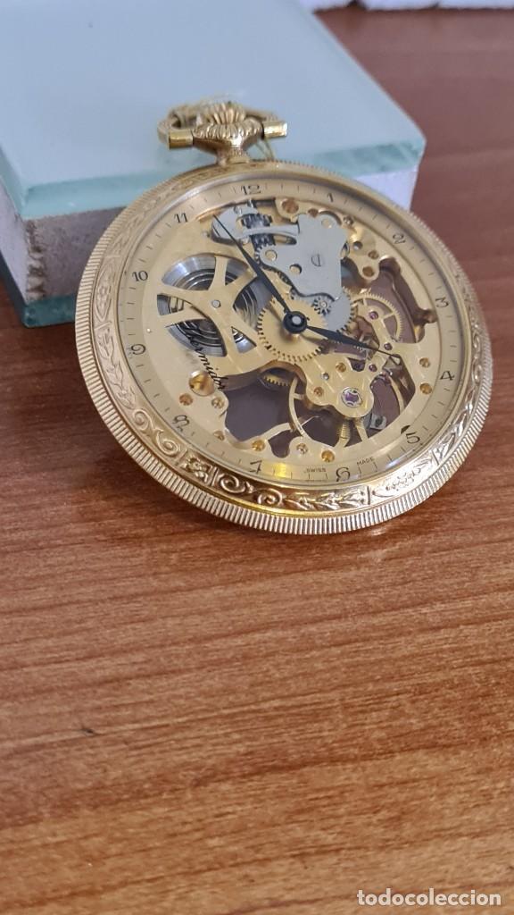 Relojes: Reloj bolsillo THERMIDOR cuerda manual Suizo máquina vista chapado de oro 20 micras, 17 rubis inca. - Foto 4 - 244841850