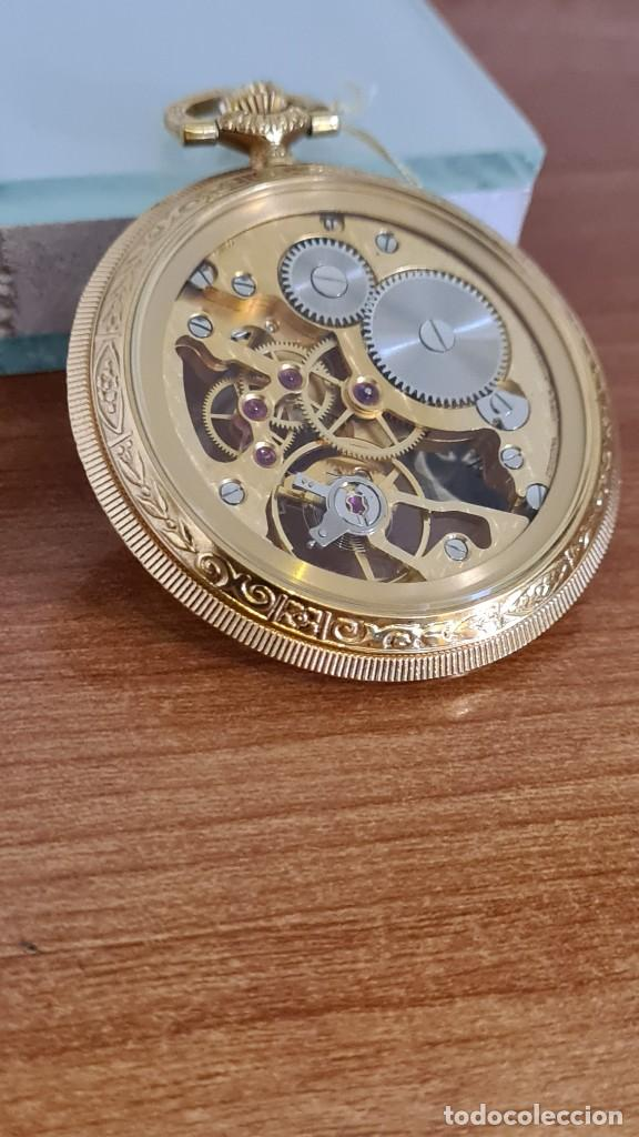 Relojes: Reloj bolsillo THERMIDOR cuerda manual Suizo máquina vista chapado de oro 20 micras, 17 rubis inca. - Foto 5 - 244841850