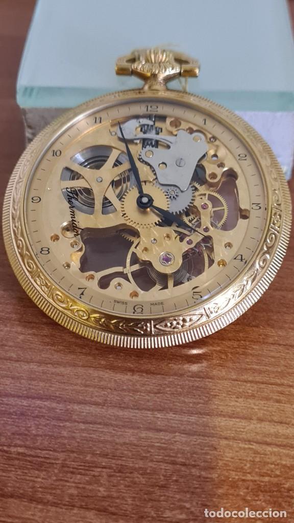 Relojes: Reloj bolsillo THERMIDOR cuerda manual Suizo máquina vista chapado de oro 20 micras, 17 rubis inca. - Foto 10 - 244841850
