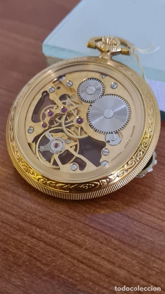 Relojes: Reloj bolsillo THERMIDOR cuerda manual Suizo máquina vista chapado de oro 20 micras, 17 rubis inca. - Foto 12 - 244841850