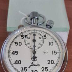 Relojes: RELOJ BOLSILLO RUSO (VINTAGE) CRONOMETRO AZAM. PROFESIONAL OCHO DÍAS CUERDA, ACERO NÚMEROS GRANDES,. Lote 244849435