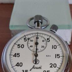 Relojes: RELOJ BOLSILLO RUSO (VINTAGE) CRONOMETRO AZAM. PROFESIONAL OCHO DÍAS CUERDA, ACERO NÚMEROS GRANDES,. Lote 244874955