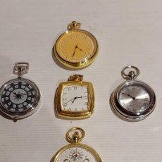 Relojes: 5 RELOJES DE BOLSILLO DE LA - GENTLEMAN COLLECTION - NO COMPROBADOS / VER FOTOS.. Lote 247204705