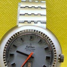 Relojes: RELOJ CABALLERO (VINTAGE) KALTER ACERO, AUTOMÁTICO, INCA, 25 RUBÍS, DOBLE CALENDARIO LAS SEIS,CORREA. Lote 248452180