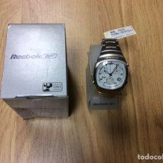 Relojes: RELOJ DE ACERO REEBOK MOD. T54702 NUEVO EN SU CAJA ORIGINAL CON INSTRUCCIONES DIÁMETRO 37. Lote 248647010