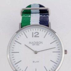 Relojes: RELOJ. MADISON. UNISEX. NUEVO.. Lote 248967100