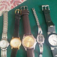 Relojes: LOTE 5 RELOJES ( SIN PILA O AVERIADOS). Lote 251176115