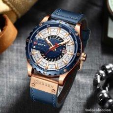 Relojes: RELOJ CURREN AZUL Y DORADO HOMBRE NUEVO. Lote 243257975