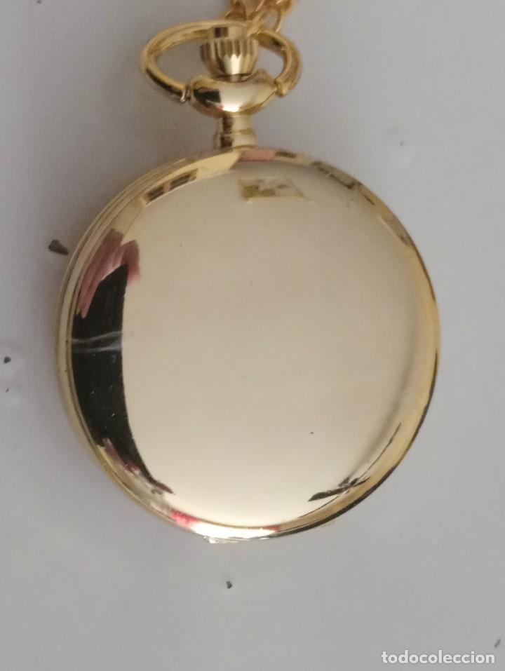 Relojes: Reloj de bolsillo pentagrama dorado sobre fucsia Sailor Moon NUEVO - Foto 2 - 252080400