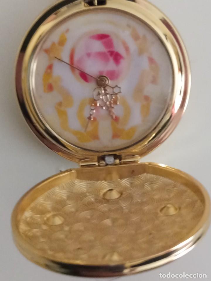 Relojes: Reloj de bolsillo pentagrama dorado sobre fucsia Sailor Moon NUEVO - Foto 3 - 252080400