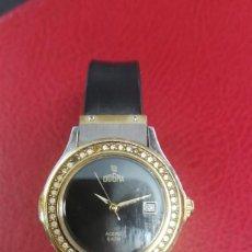 Relojes: RELOJ SEGUNDA MANO MARCA DOGMA ACERO 5 ATM CON CIRCONITAS. Lote 252948260