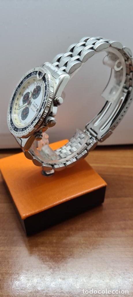 Relojes: Reloj caballero (Vintage) TIME FORCE cuarzo cronografo, acero, calendario las tres, correa acero. - Foto 6 - 253707270