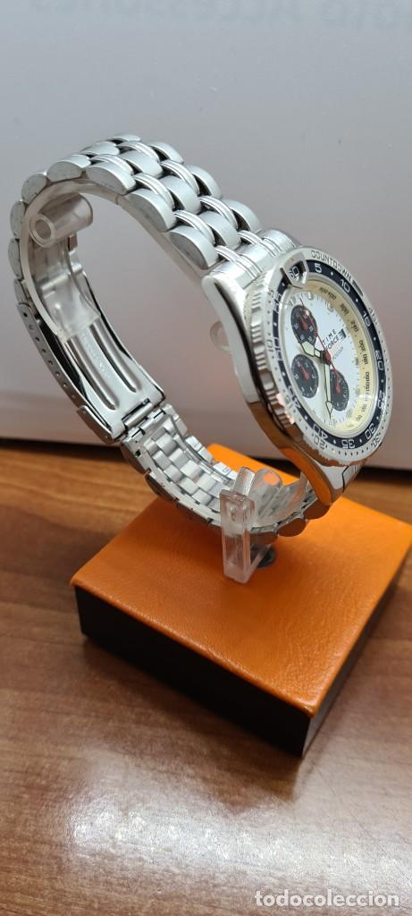 Relojes: Reloj caballero (Vintage) TIME FORCE cuarzo cronografo, acero, calendario las tres, correa acero. - Foto 14 - 253707270