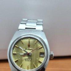 Relojes: RELOJ CABALLERO (VINTAGE) ANKER AUTOMÁTICO EN ACERO, ESFERA COLOR CHAMPÁN CALENDARIO LAS TRES CORREA. Lote 253733305