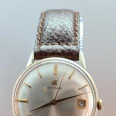 Relojes: RELOJ (VINTAGE) CYMA CHAPADO, DE CUERDA CALIBRE CYMA 488, ESFERA BLANCA, AGUJAS ORIGINALES 18 RUBÍS.. Lote 253903270