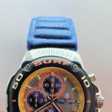 Relojes: RELOJ CABALLERO (VINTAGE) TIME FORCE CUARZO CRONOGRAFO EN ACERO, CON ESFERA GRIS, CORREA ORIGINAL.. Lote 253973435