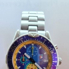 Relojes: RELOJ CABALLERO (VINTAGE) TIME FORCE CUARZO CRONOGRAFO, ACERO, CALENDARIO LAS TRES, CORREA ACERO.. Lote 254010765