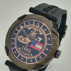 Relojes: RELOJ DE CUARZO WATCHSTAR 1863 GETTYSBURG EDICIÓN LIMITADA GENERAL GEORGE E. PICKETT DE SEGUNDA MANO. Lote 254500770