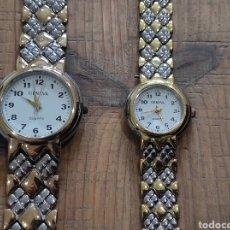 Relojes: PAREJA DE RELOJES, HOMBRE Y MUJER. CONJUNTO. GENEVA.. Lote 254753170