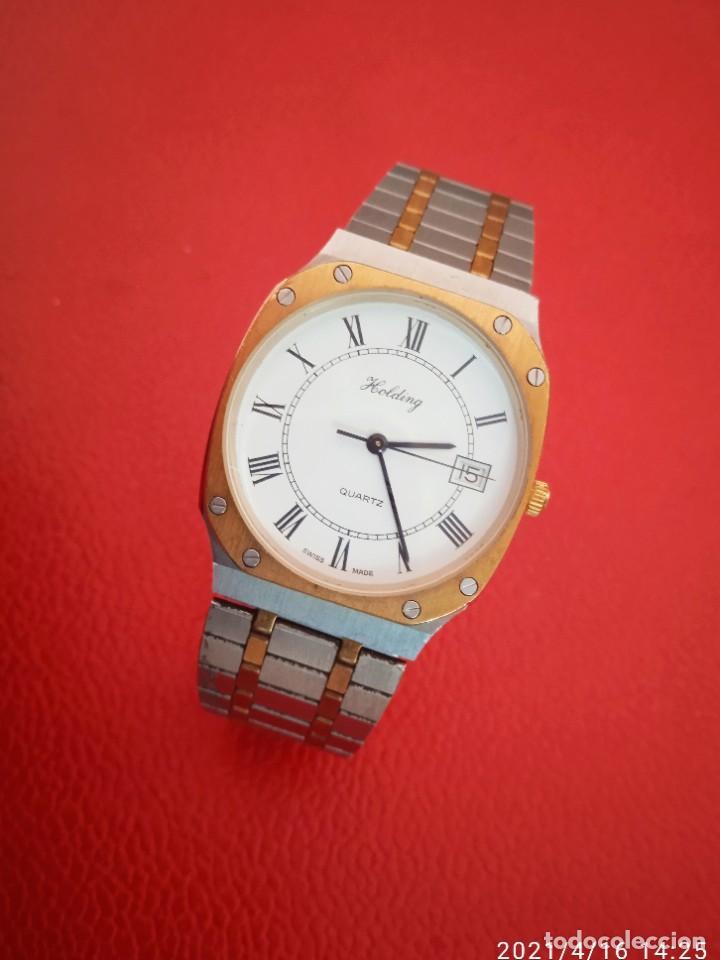 Relojes: RELOJ HOLDING QWARTZ BICOLOR COMO NUEVO. - Foto 3 - 254995390
