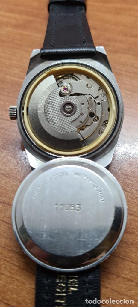 Relojes: Reloj caballero (Vintage) automático SAVOY doble calendario a las tres, cristal nuevo, correa cuero - Foto 11 - 255415440