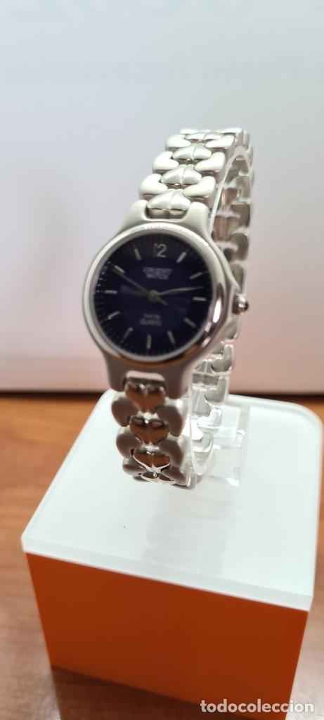 Relojes: Reloj señora ORIENT de cuarzo en acero, esfera azul, agujas acero, correa acero, reloj nuevo tienda - Foto 2 - 255433830