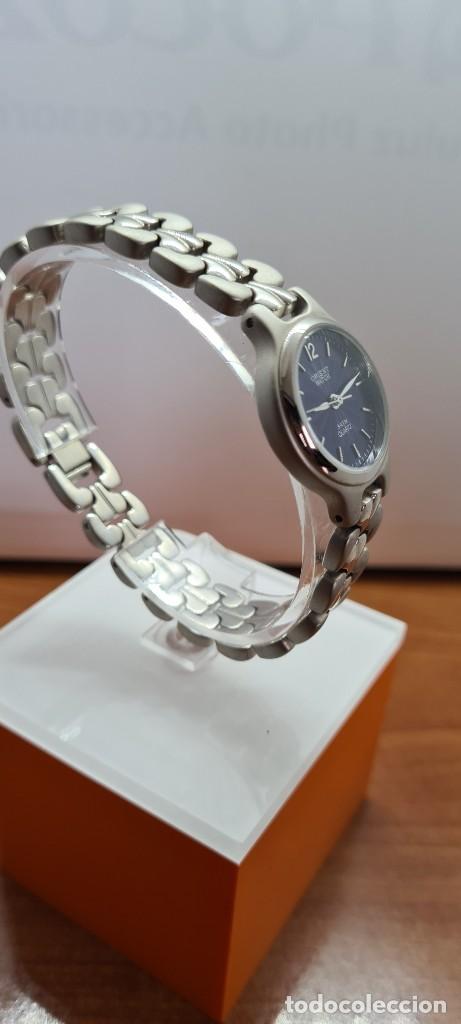 Relojes: Reloj señora ORIENT de cuarzo en acero, esfera azul, agujas acero, correa acero, reloj nuevo tienda - Foto 9 - 255433830